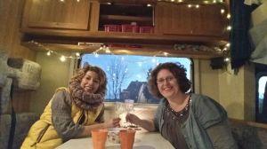Nicole en ik in de camper dag 4